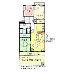 香川県高松市円座町の賃貸マンションの間取り