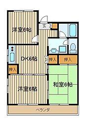 東京都練馬区南大泉5丁目の賃貸マンションの間取り