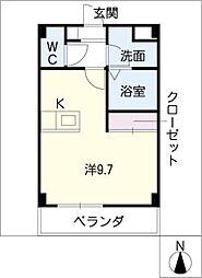 柿の木坂[2階]の間取り