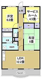シティハイツ浜松[205号室]の間取り