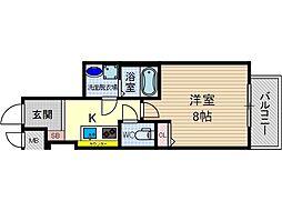 カミオン別院[4階]の間取り