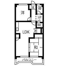 いづみハイツ[3階]の間取り