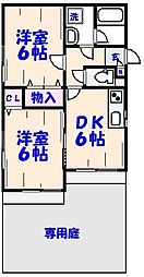 千葉県市川市大野町4丁目の賃貸アパートの間取り