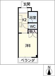 コーポ吉川[2階]の間取り