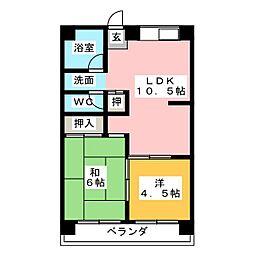 第1Uコーポ[3階]の間取り