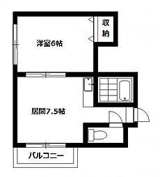 北海道札幌市南区真駒内本町3丁目の賃貸マンションの間取り