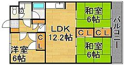 福岡県福岡市早良区原1丁目の賃貸マンションの間取り
