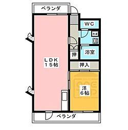 リブレM社台[2階]の間取り