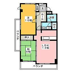 江崎ビル[2階]の間取り