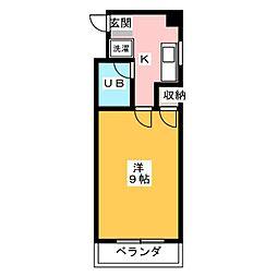 サチクレイドル[4階]の間取り
