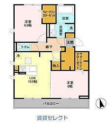 バリスサイトE[1階]の間取り