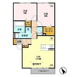 (仮)福居町プロジェクト B[2階]の間取り