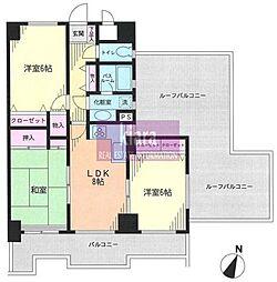 ライオンズマンション和田町第2[6階]の間取り