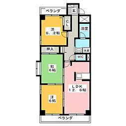 アヤラルーチェ[2階]の間取り