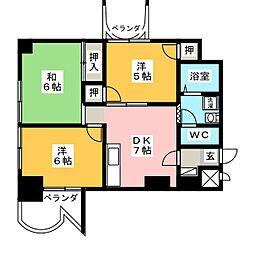 カーサフクシマB棟[7階]の間取り