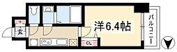 アステリ鶴舞ディオ 15階1Kの間取り