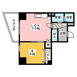 La Maison輝[4階]の間取り