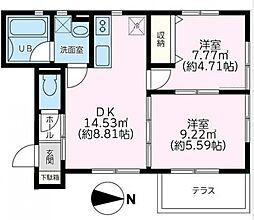 神奈川県川崎市高津区下野毛1丁目の賃貸アパートの間取り