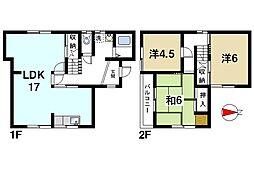 [一戸建] 奈良県奈良市南京終町3丁目 の賃貸【/】の間取り