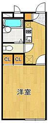 レオパレスフルール[1階]の間取り