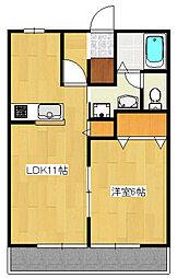 タウニィ・コスモス3[1階]の間取り