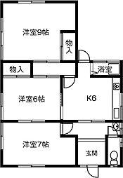 [一戸建] 愛知県小牧市応時 の賃貸【/】の間取り