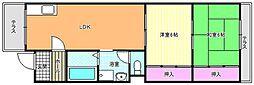ラ・モードニシカワII[1階]の間取り