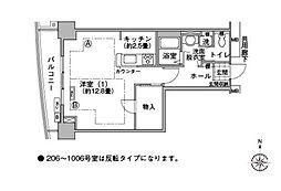河田町コンフォガーデン[8階]の間取り