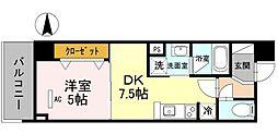 D'TOWER芥川[0101号室]の間取り