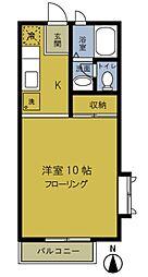 東京都練馬区中村北1丁目の賃貸アパートの間取り