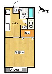 TUハイツ K[A203号室]の間取り