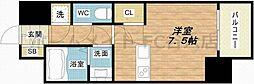 レジュールアッシュOSAKA今里駅前 8階ワンルームの間取り