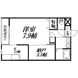 静岡県浜松市浜北区染地台3丁目の賃貸アパートの間取り
