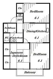 サンハイツ[2階]の間取り