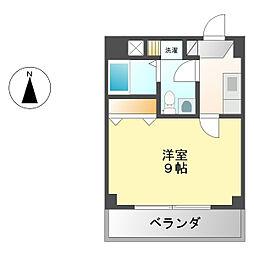 愛知県名古屋市西区花の木1丁目の賃貸マンションの間取り