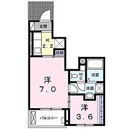 愛知県名古屋市天白区福池1丁目の賃貸アパートの間取り