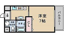 エグゼ西大阪[8階]の間取り