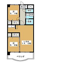 サヌール[2階]の間取り