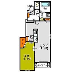 プランドールA・B[1階]の間取り