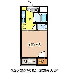 コーポT&T[3階]の間取り