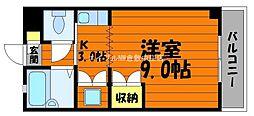 岡山県倉敷市松島の賃貸マンションの間取り