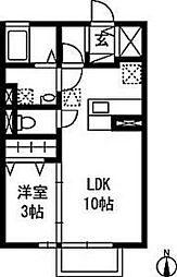 サリーレ[2階]の間取り