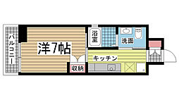 飛松高谷マンション[402号室]の間取り