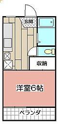 ヤングコーポ小林[202号室]の間取り