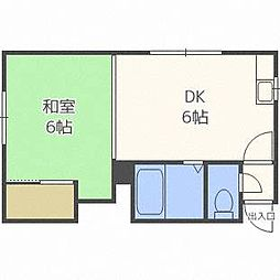 林マンション[2階]の間取り