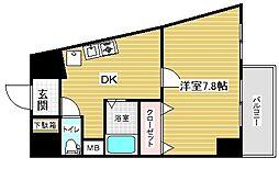 エステムコート新神戸エリタージュ[3階]の間取り