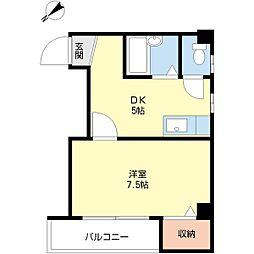 ハイツ渡辺IV[3階]の間取り