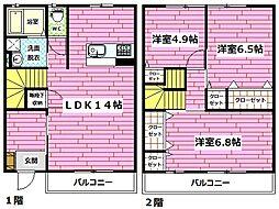 [テラスハウス] 広島県広島市安佐南区東原3丁目 の賃貸【/】の間取り