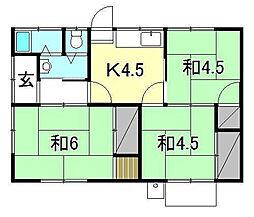 [一戸建] 愛媛県松山市居相6丁目 の賃貸【愛媛県 / 松山市】の間取り