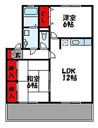 福岡県古賀市舞の里5丁目の賃貸アパートの間取り